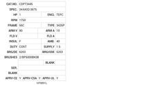 CDPT3445 Baldor DC Motors Nameplate