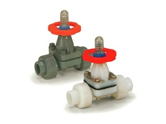"Hayward DAB6010UPF, 1"" PVDF/PP Diaphragm Valve w/PTFE Diaphragm ; FPM Seals; socket/threaded end connections"