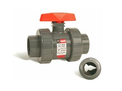 "Hayward CV1075FV, 3/4"" PVC Profile2 Control Ball Valve w/FPM o-rings; flanged end connections"