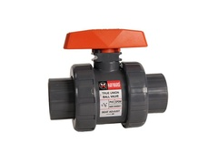 "Hayward TB1150ST, 1-1/2"" PVC True Union Ball Valve w/FPM o-rings; socket/threaded end connections"