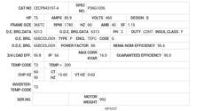 CECP84316T-4 Baldor AC Motors Nameplate