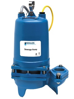 Goulds 3WD51D4HAE 3WD Non-Clog Submersible Sewage Pump