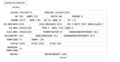 CECP4407T-4 Baldor AC Motors Nameplate
