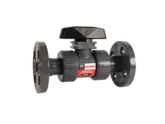 "Hayward TB1150FZ, 1-1/2"" PVC True Union Ball Valve w/FPM o-rings; flanged end connections, drilled ball for N/AOCl"