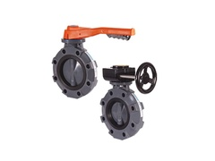 "Hayward BYV14025A0NGI00, 2-1/2"" Butterfly Valve w/PVC Body-Lugged; PP Disc; NITRILE liner & seals; gear operator"