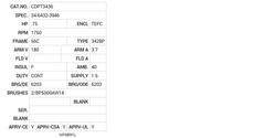 CDPT3436 Baldor DC Motors Nameplate
