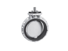 "Hayward BYB5140N5KGA, 14"" Ready for Actuation BYB Series Butterfly Valve w/PVDF Body; PVDF Disc; NITRILE liner & seals"