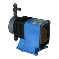 Pulsatron Pumps Model LPD4MA-PVCA-XXX Chemical Metering Pump Side View