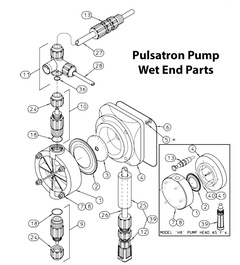 Pulsatron Pumps L1100400-PVC Wet End Part