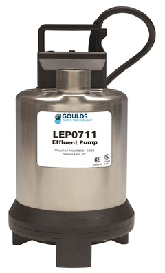 Goulds Pumps LEP0712ATF LEP07 Residential Submersible Effluent Pump