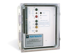 Hayward EBU104-120-4, Battery Back-Up System for use with EPM130 Series 120vac On/Off/Jog actuators.  NEMA 4x Enclosure with hinged clear access door (lockable). 16.00''H x 14.00''W x8.00'''D Fiberglass Enclosure, 44# Net weight.