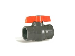 "Hayward QV1T125TE, 1-1/4"" PVC QIC2 Compact Ball Valve w/EPDM o-rings; PTFE seats; threaded end connections"