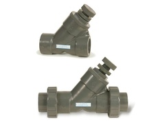"Hayward SLC10125SU, 1-1/4"" PVC Spring-Loaded True Union Y-Check Valve w/FPM o-ring seal, socket end connections"