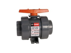 "Hayward TB1250SZ, 2-1/2"" PVC True Union Ball Valve w/FPM o-rings; socket end connections, drilled ball for N/AOCl"