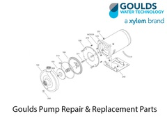 Goulds Pump Part 7L124 MTR ADPTR-6 in. W/STRAIN