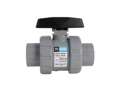 "Hayward TB2125STZ, 1-1/4"" CPVC True Union Ball Valve w/FPM o-rings; socket/threaded end connections, drilled ball for N/AOCl"