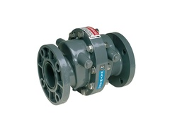 "Hayward SW1400VC, 4"" PVC Swing Check Valve w/FPM seals & counterweight; flanged end connections"
