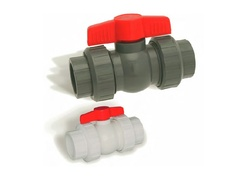 "Hayward QTA1015CSEG, 1-1/2"" PVC Gray QTA True Union Compact Ball Valve w/EPDM o-rings; TPV seats; socket/threaded end connections"