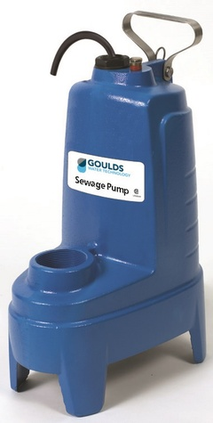 Goulds Pumps PS41P1F Residential Submersible Heavy Duty Sewage Pump