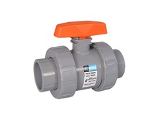 "Hayward TB2125ST, 1-1/4"" CPVC True Union Ball Valve w/FPM o-rings; socket/threaded end connections"