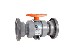 "Hayward TB1250FZ, 2-1/2"" PVC True Union Ball Valve w/FPM o-rings; flanged end connections, drilled ball for N/AOCl"
