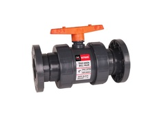 "Hayward TB2150F, 1-1/2"" CPVC True Union Ball Valve w/FPM o-rings; flanged end connections"