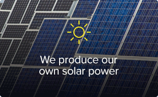 We produce our own solar power