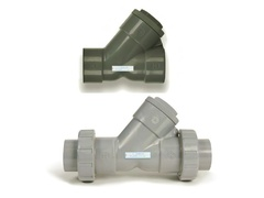 "Hayward YC10125TU, 1-1/4"" PVC True Union Y-Check Valve w/FPM o-ring seal, threaded end connections"