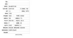 CDX7150 Baldor DC Motors Nameplate