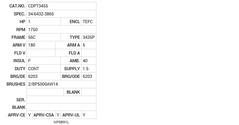 CDPT3455 Baldor DC Motors Nameplate