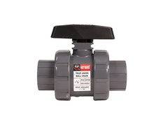 "Hayward TB1125STZ, 1-1/4"" PVC True Union Ball Valve w/FPM o-rings; socket/threaded end connections, drilled ball for N/AOCl"