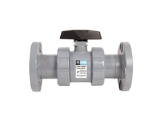 "Hayward TB2200FZ, 2"" CPVC True Union Ball Valve w/FPM o-rings; flanged end connections, drilled ball for N/AOCl"