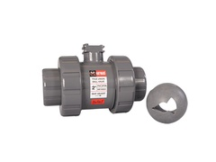 "Hayward HCCV1075STV, 3/4"" PVC Profile2 Control Ball Valve w/FPM o-rings, threaded/socket ends"