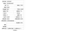 CDP3443 Baldor DC Motors Nameplate