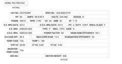 CECP4308T Baldor AC Motors Nameplate