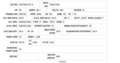 CECP84310T-4 Baldor AC Motors Nameplate