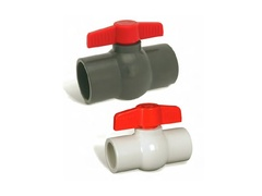 "Hayward QVC1007SSEG, 3/4"" PVC Gray QVC Compact Ball Valve w/EPDM o-rings; TPV seats; socket end connections"